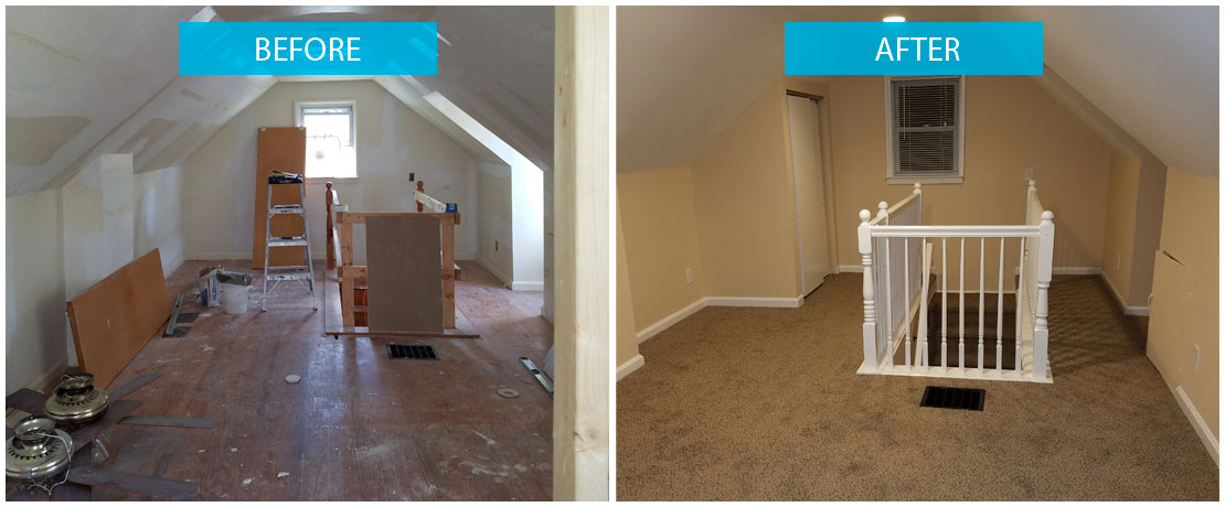 before after professional painting silver spring in md home